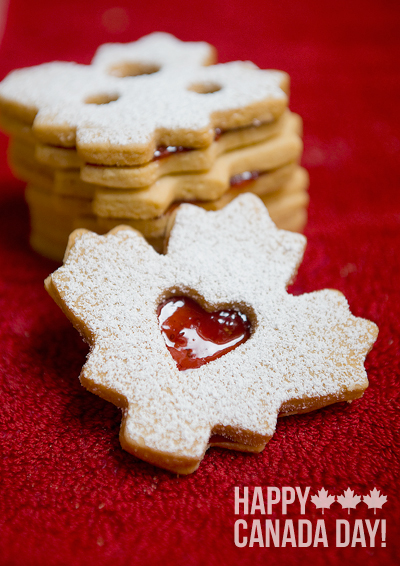 Heart Canada: Almond Shortbread Sandwiches - Yummy Workshop