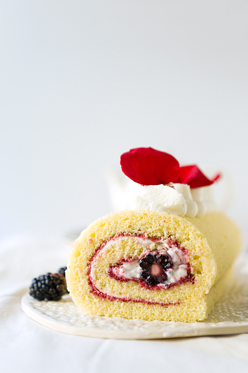 Blackberry Rose Roulade